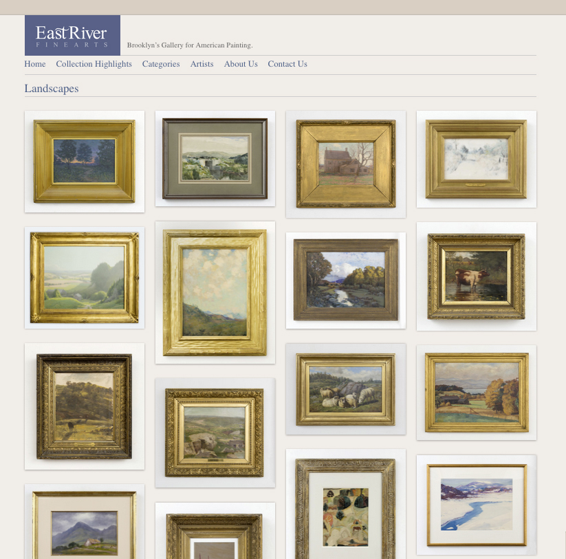 The Blue Griffin | Responsive website design for private art gallery